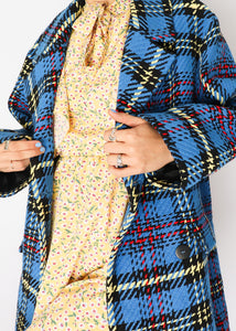 Zara Blue Plaid Jacket (XS, S)