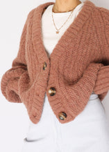 Load image into Gallery viewer, HM Wool/Alpaca Blush Cropped Oversized Cardi (XS-M)