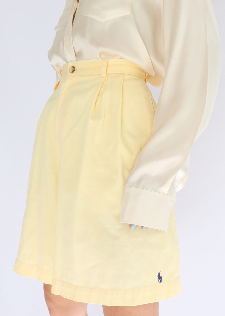 Vintage Ralph Lauren Butter Yellow Short (S)