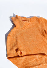 Load image into Gallery viewer, Vintage Fuzzy Light Orange Turtleneck (S)