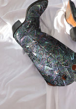 Load image into Gallery viewer, Vintage Irridescent Patterned Leather Western Boot (8, 8.5)
