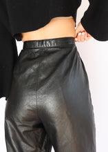 Load image into Gallery viewer, Vintage Black Leather Pant (M)