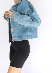 Vintage Fame Jeanswear Cropped Denim Jacket (S-L)