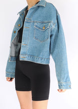 Load image into Gallery viewer, Vintage Fame Jeanswear Cropped Denim Jacket (S-L)