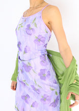 Load image into Gallery viewer, Vintage Purple Floral Dress (XS, S)
