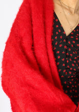 Load image into Gallery viewer, Modern HM Fuzzy Red Oversized Cardigan (XS-L)