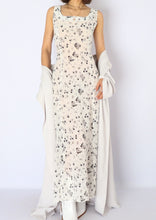 Load image into Gallery viewer, Vintage Sheer White Floral Dress (S)