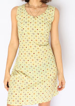 Load image into Gallery viewer, Vintage Light Green Floral Mini Dress (XS, S)