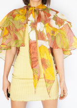 Load image into Gallery viewer, Vintage Sheer Floral Cape
