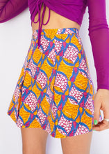 Load image into Gallery viewer, Zara Orange Floral Cotton Mini Skirt (L)