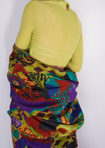 Modern Lime Cinched Sheer Crop (XS)
