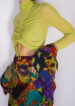 Load image into Gallery viewer, Modern Lime Cinched Sheer Crop (XS)