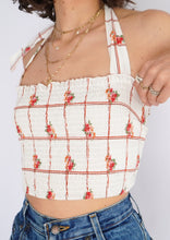 Load image into Gallery viewer, Modern F21 White Floral Cinched Crop (M, L)