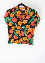 Load image into Gallery viewer, Vintage Orange Floral Shirt (S)