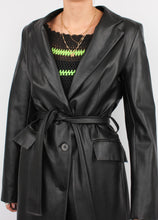 Load image into Gallery viewer, VINTAGE ZARA FAUX BUTTER LEATHER TRENCH (XS, S)