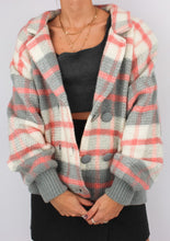 Load image into Gallery viewer, VINTAGE COZY PLAID KNIT JACKET (L)