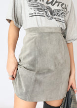 Load image into Gallery viewer, VINTAGE GREY SUEDE MINI SKIRT (XS, S)