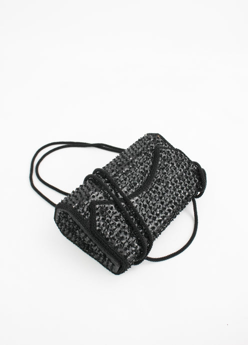 VINTAGE STRUCTURED SEQUIN BAG