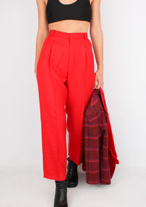 VINTAGE RED DRESS PANT (XS)