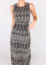 Load image into Gallery viewer, VINTAGE NAVY PATTERNED DRESS (M, L, 12)
