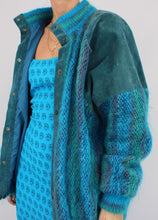 Load image into Gallery viewer, VINTAGE 80S SUEDE MOHAIR JACKET (L)