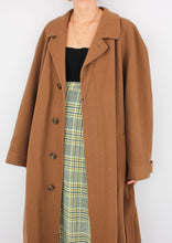 Load image into Gallery viewer, VINTAGE AUBURN WOOL & CASHMERE COAT (M, L)