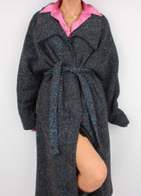 Load image into Gallery viewer, VINTAGE COTTON CANDY SPECKLED WOOL TRENCH COAT