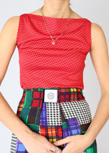 Load image into Gallery viewer, VINTAGE RED PLAID TOP (S)