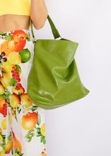 Load image into Gallery viewer, Vintage Green Apple Slouch Bag
