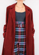 Load image into Gallery viewer, VINTAGE WINE RED SOFT TRENCH (S, M)