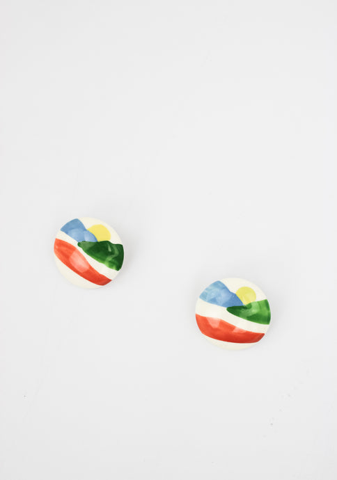 VINTAGE CLAY PAINTED CLIP-ONS