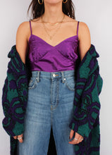 Load image into Gallery viewer, VINTAGE PURPLE SATIN TANK (M, L, 12)