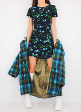 Load image into Gallery viewer, VINTAGE BLUE FLORAL MINI DRESS (S)