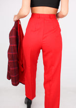 Load image into Gallery viewer, VINTAGE RED DRESS PANT (XS)