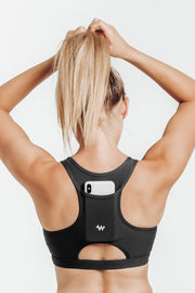 LUXE L1.0 SPORTS BRA: BLACK
