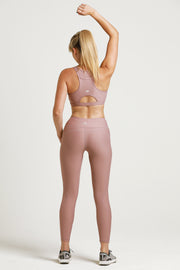 Wrapdrive luxe legging sports bra pink eunry  gym wear