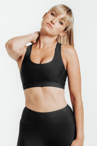 Wrapdrive luxe sports bra eden green white gym wear