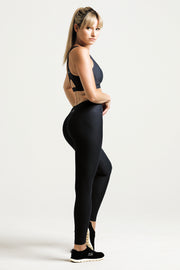 Wrapdrive luxe legging sports bra black gym wear