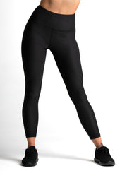 Wrapdrive plush ribbed legging cosmic black women gym wear