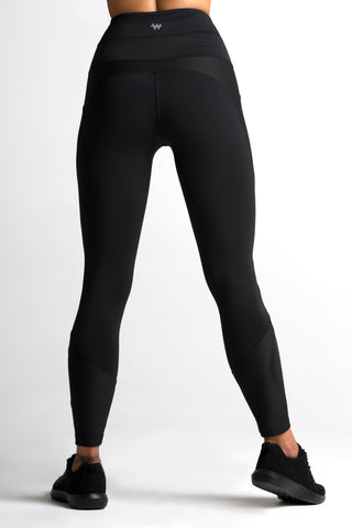 Wrapdrive plush ribbed legging black women gym wear