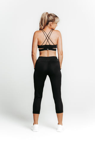 WRAPDRIVE CROPPED PANT: BLACK