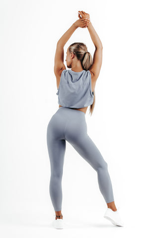 wrapdrive seamless spirit airy leggings sports bra pale blue