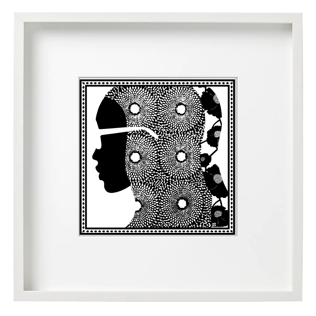 Art Print - Dakar, TX (Black/White)