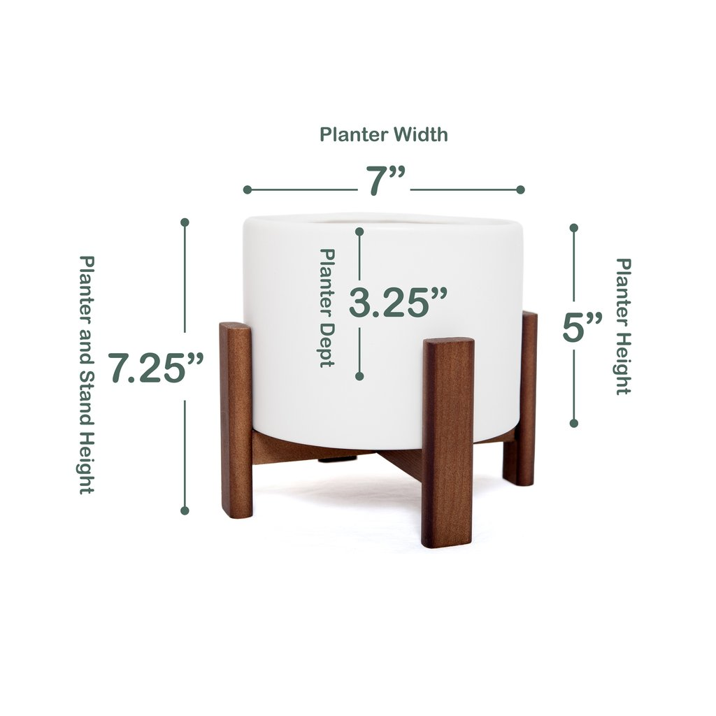 Sonder Planter Pot - Hidden Drip Tray | Wooden Stand | Self-Watering