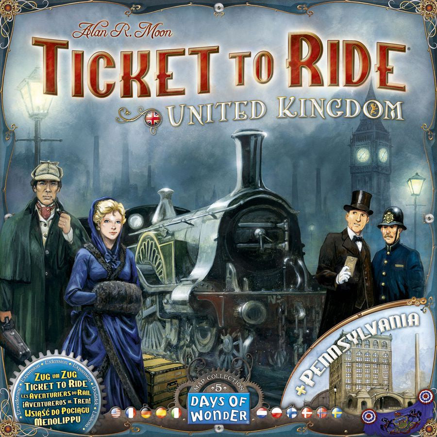Ticket to Ride Map Collection: United Kingdom | Calico Keep