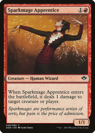 Sparkmage Apprentice [Duel Decks: Speed vs. Cunning] | Calico Keep
