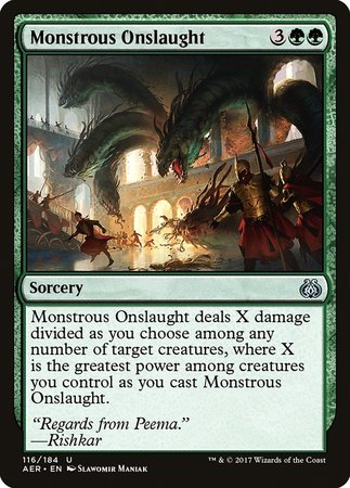 Monstrous Onslaught [Aether Revolt] | Calico Keep