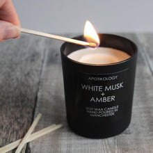 Load image into Gallery viewer, White Musk + Amber Scented Candle