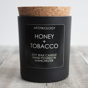 Honey + Tobacco Scented Candle