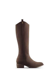 Rydal - Light Brown Nubuck - narrow calf boots for slim legs